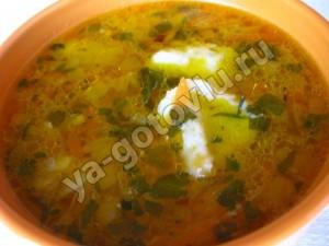 Суп с клецками из манки