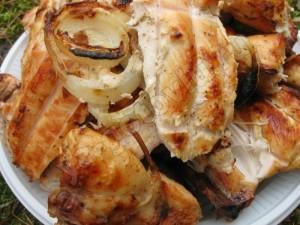 Готовый куриный шашлык