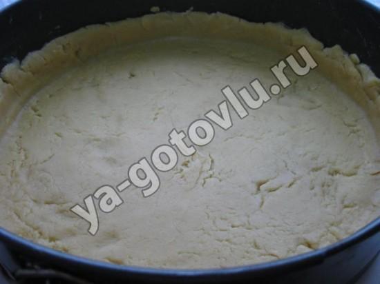 Песочное тесто в форме