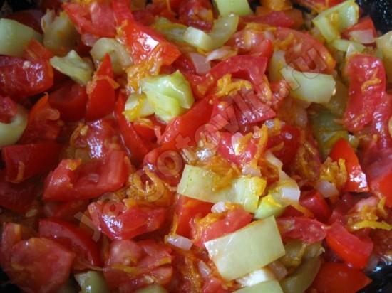 Пассерованые овощи для легкого супа