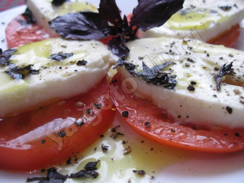 готовый салат капрезе