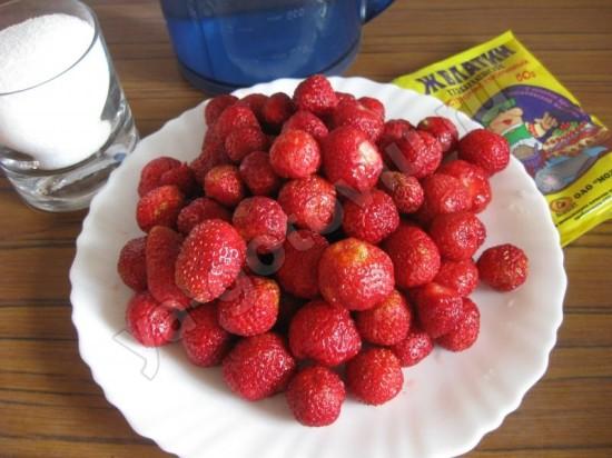 Ингредиенты для клубничного желе