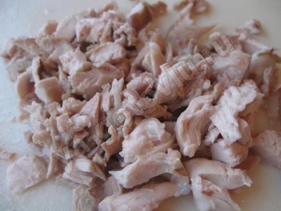 Нарезанное куриное мясо
