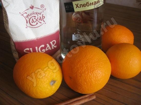 Ингредиенты для апельсинового ликера
