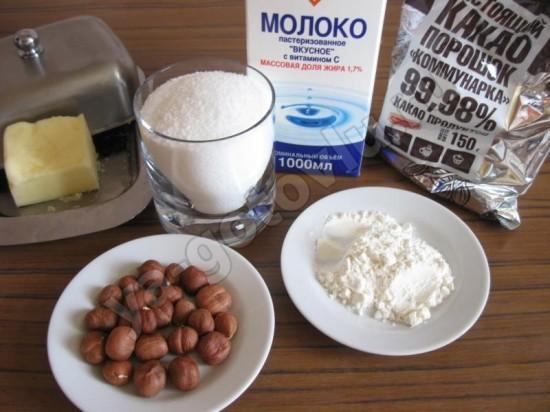 Ингредиеты для домашней нутеллы
