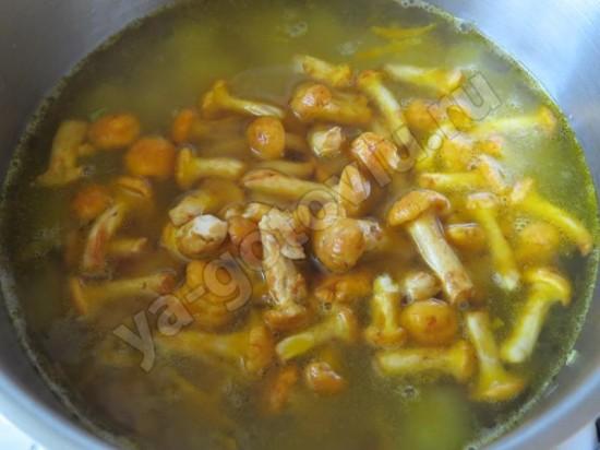 Лисички для грибного супа