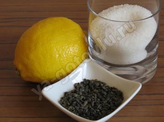 Ингредиенты для холодного чая с лимоном