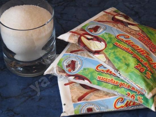 Ингредиенты для сметанного крема
