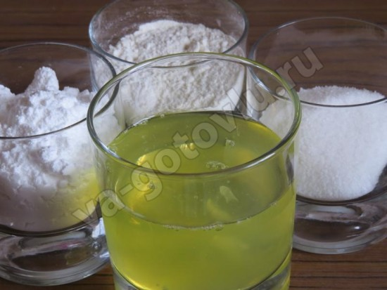 Ингредиенты для ангельскиго бисквита