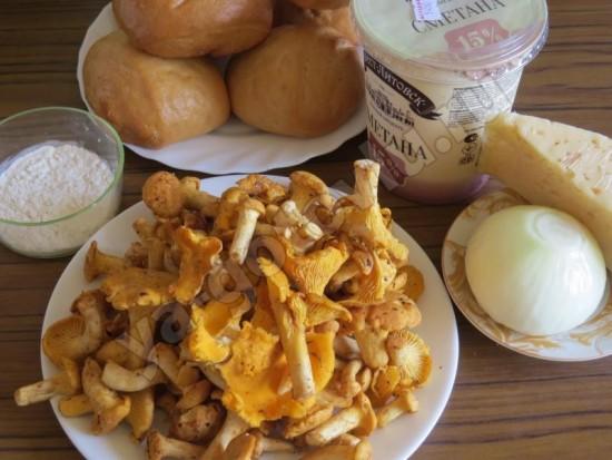 Ингредиенты для жульена с грибами