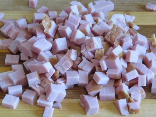 Ветчина нарезанная кубиками