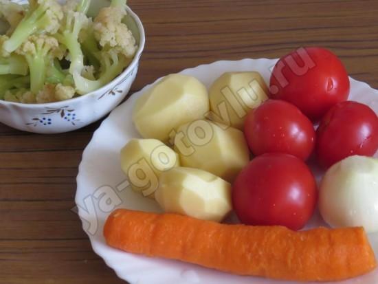 Ингредиенты для супа из цетной капусты