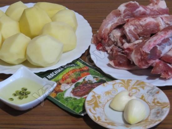 Свиные ребрышки игредиенты для приготовления