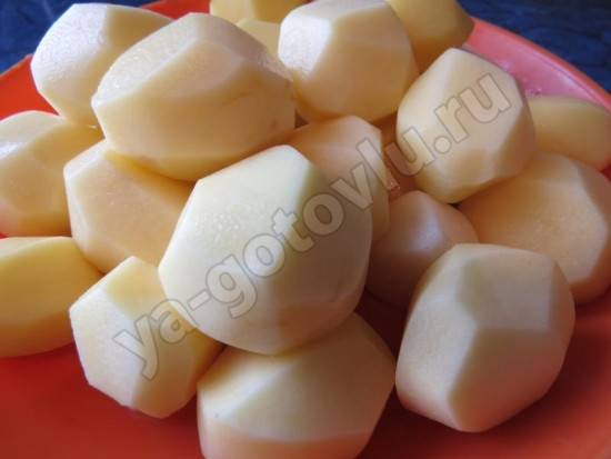 Очищеный картофель