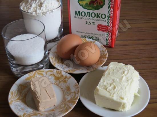 Ингредиенты для дрожжевых блинов