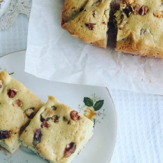 Ванильное печенье с орехами